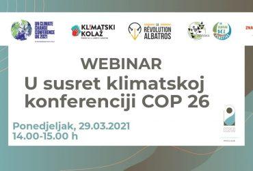 Webinar: U susret klimatskoj konferenciji COP26